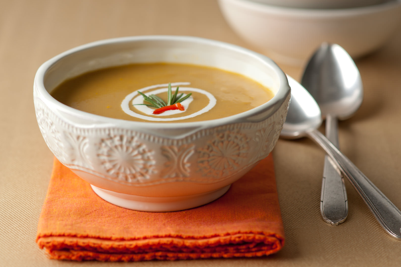 Sweet Potato Soup - Theresa Fernandez Photography | Dallas Food Photographer
