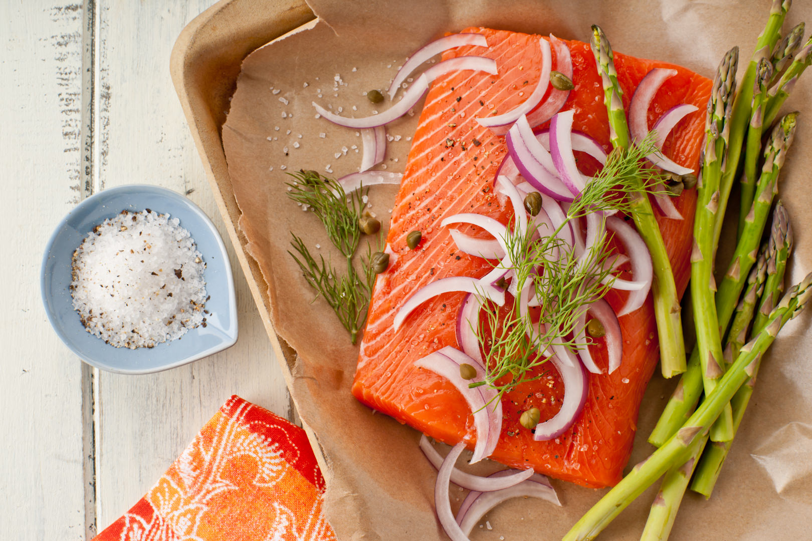 Fresh King Salmon - Theresa Fernandez Photography | Dallas Food Photographer