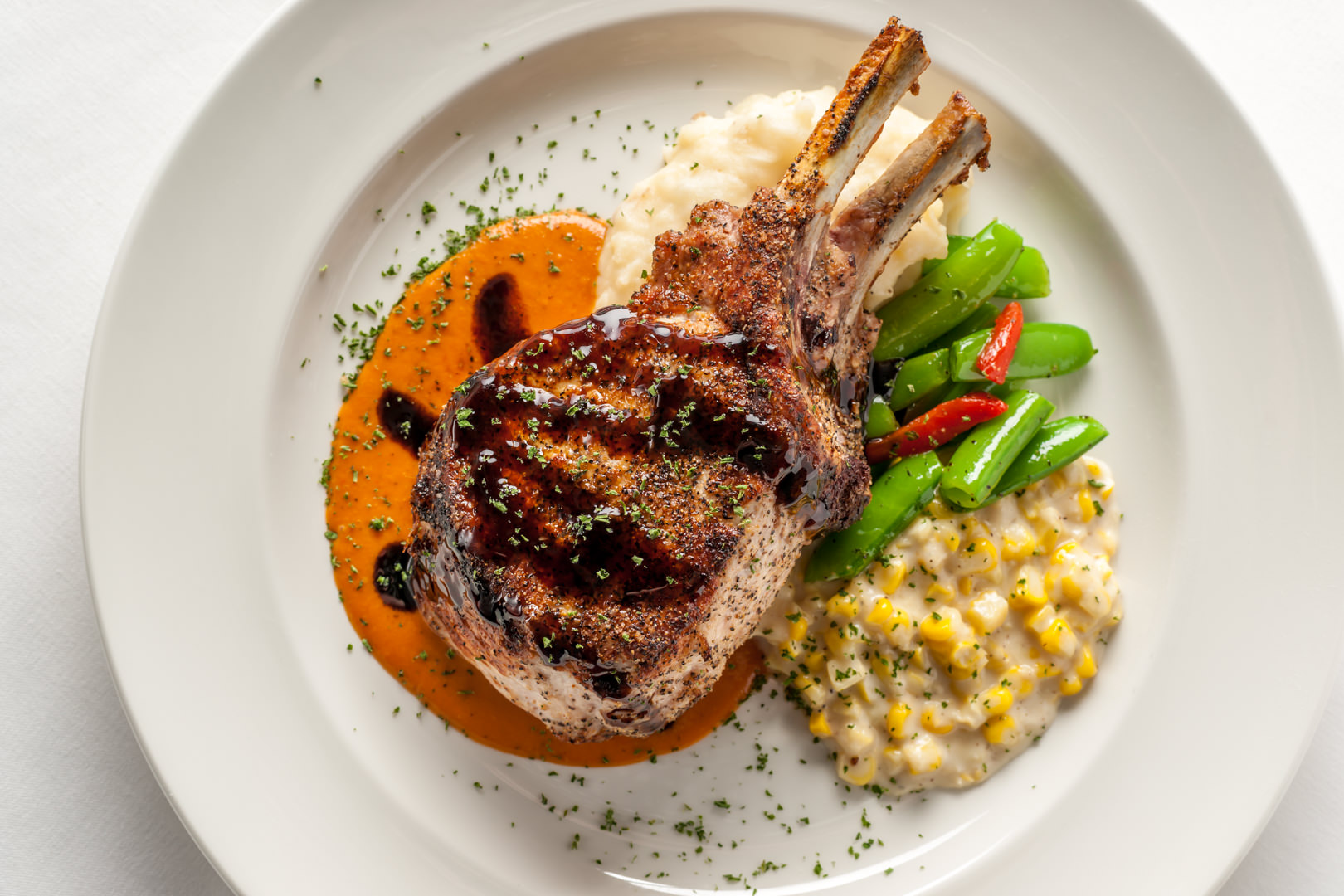 Prime Double Cut Pork Chop III Forks - Theresa Fernandez Photography | Dallas Food Photographer