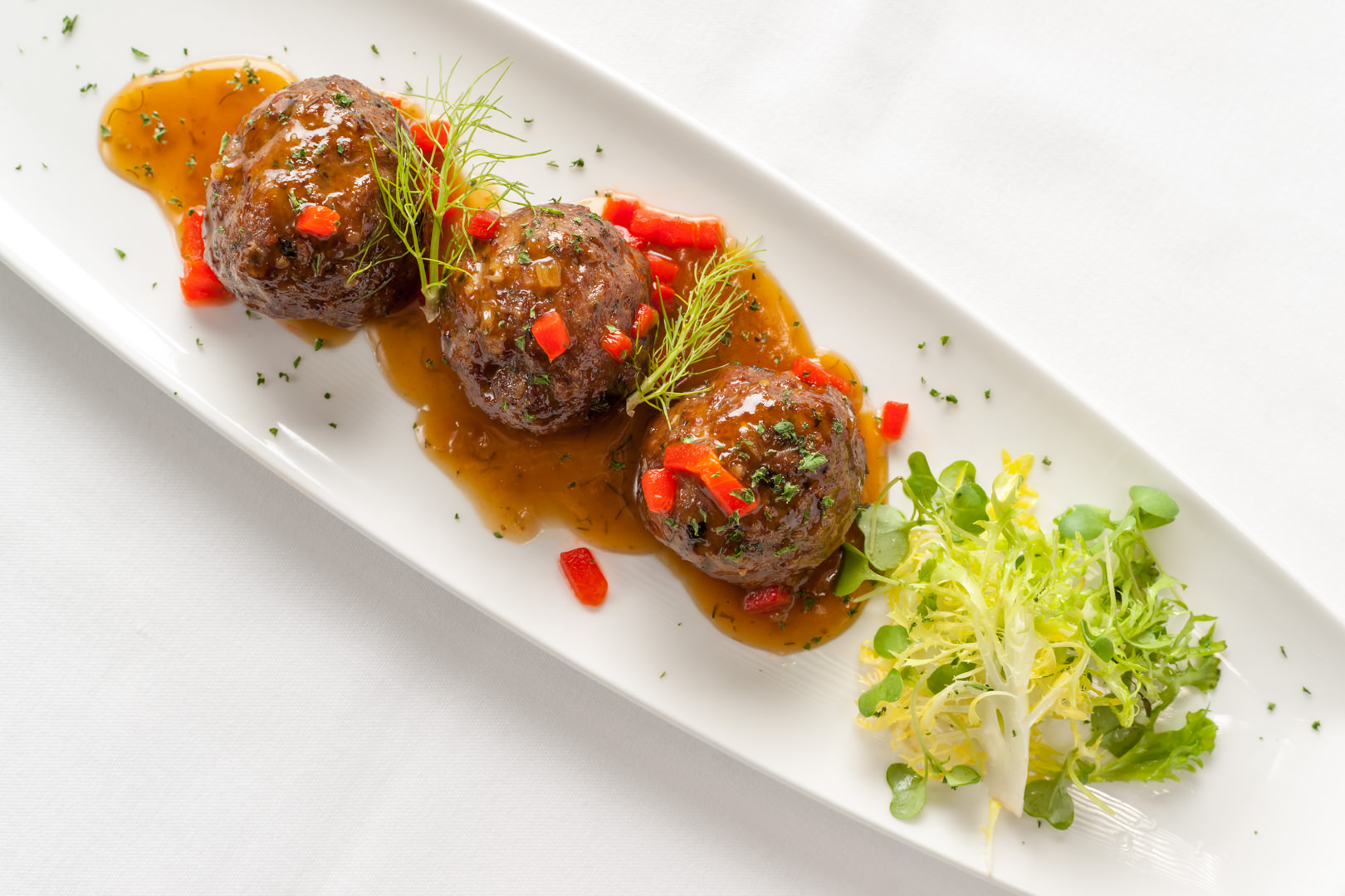 Lamb Meatballs III Forks - Theresa Fernandez Photography | Dallas Food Photographer
