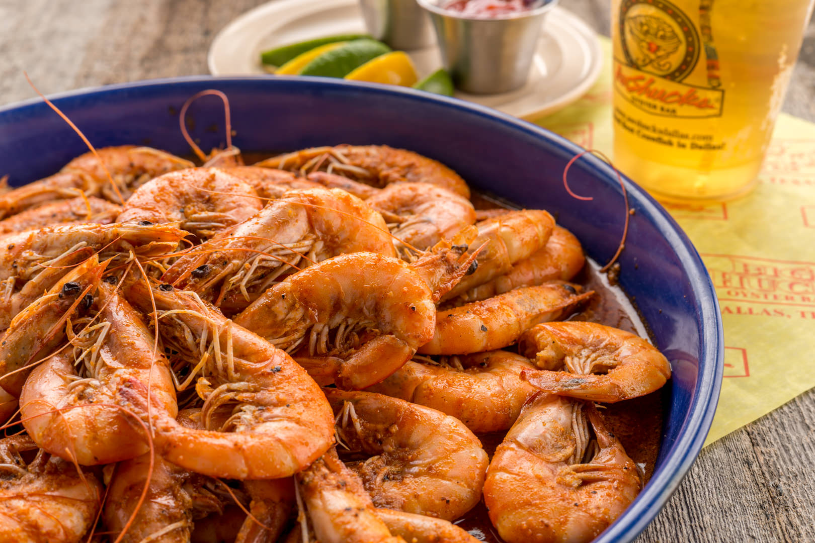 Cajun shrimp Aw Shucks - Theresa Fernandez Photography | Dallas Food Photographer