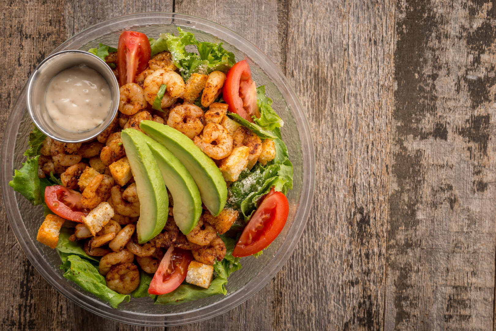 Blackened Shrimp Salad Aw Shucks - Theresa Fernandez Photography | Dallas Food Photographer