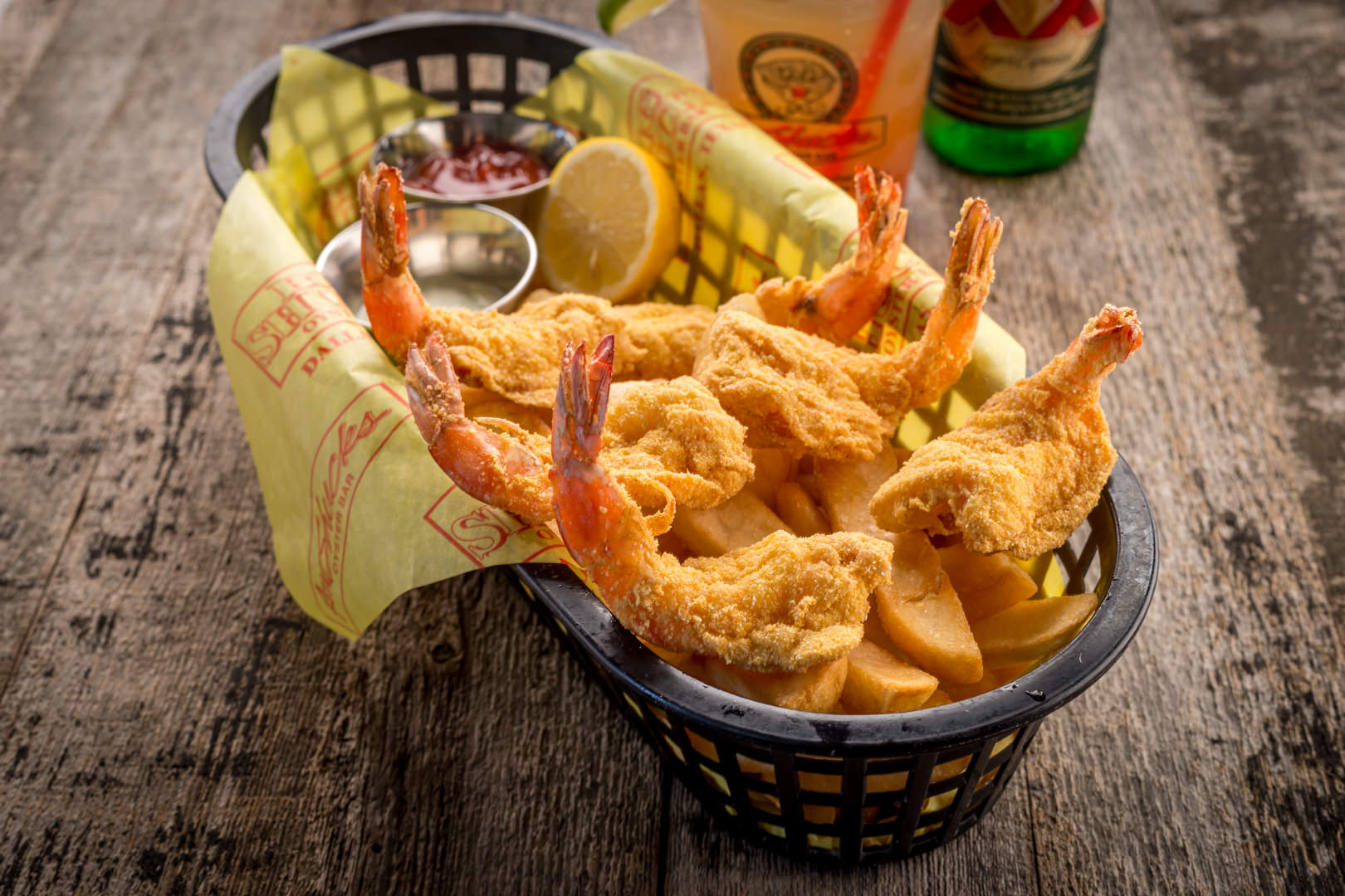 Shrimp Basket Aw Shucks - Theresa Fernandez Photography | Dallas Food Photographer