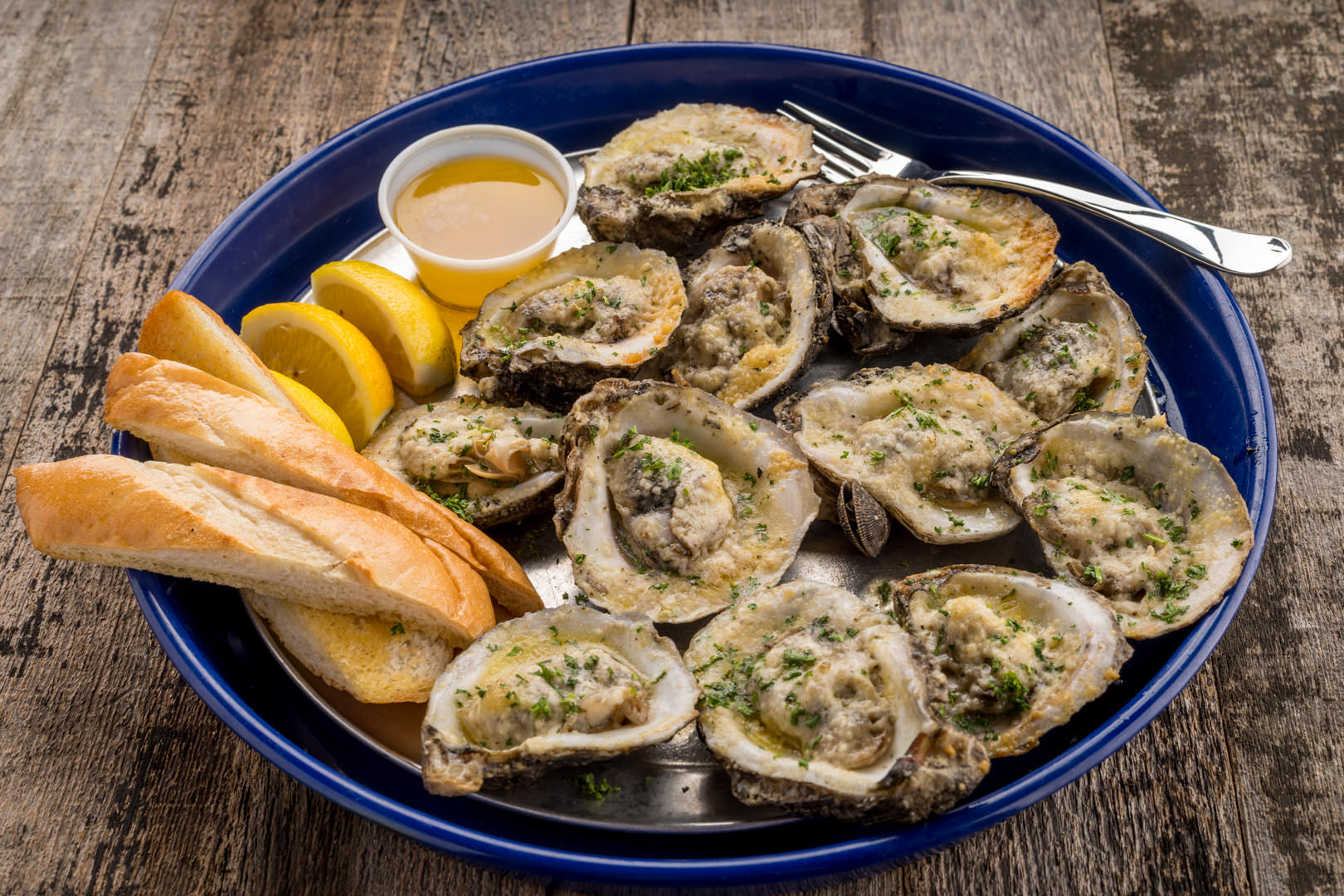 Grilled oysters Aw Shucks - Theresa Fernandez Photography | Dallas Food Photographer