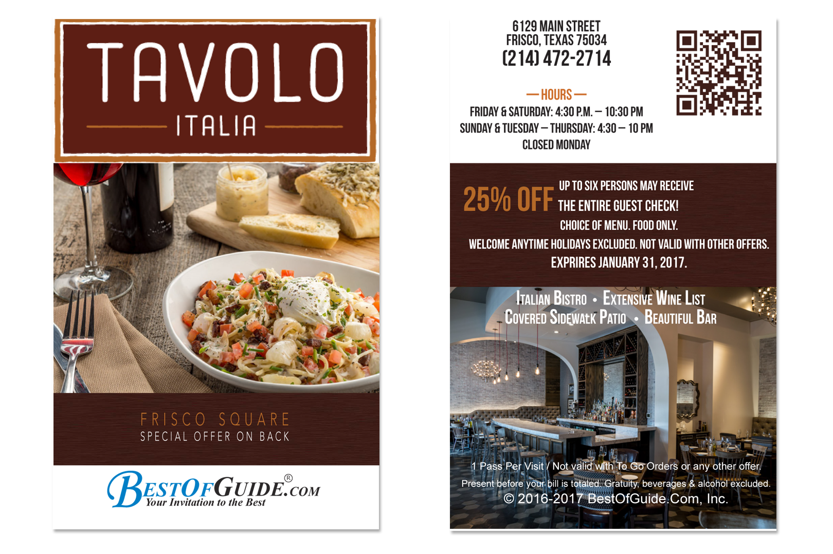 Tavolo Italia - Best of Guide